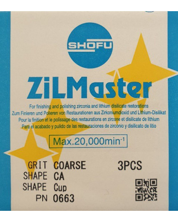 0663 ZILMASTER COARSE CA CUPT 3PCS