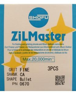 0670 ZILMASTER FINE CA BULLET 3PCS